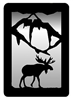 Small Accent Mirror Wall Art- Moose Design