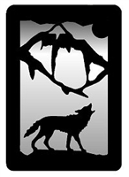 Small Accent Mirror Wall Art- Wolf Design
