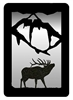 Small Accent Mirror Wall Art- Elk Design