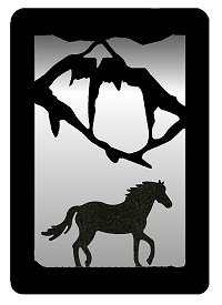 Small Accent Mirror Wall Art- Horse Design