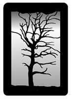 Small Accent Mirror Wall Art- Oak Tree Design