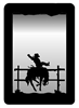 Small Accent Mirror Wall Art- Bucking Bronco Design