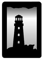 Small Accent Mirror Wall Art- Lighthouse Design