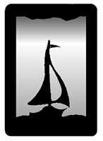Small Accent Mirror Wall Art- Sailboat Design
