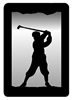 Small Accent Mirror Wall Art- Golfer Design