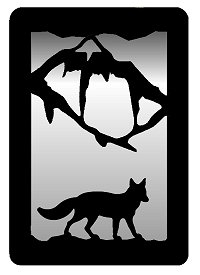 Small Accent Mirror Wall Art- Fox Design