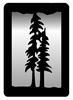 Small Accent Mirror Wall Art- Pine Tree Design