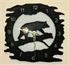 Rustic Metal Clock- Bear Design