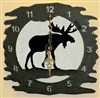 Rustic Metal Clock- Moose Design