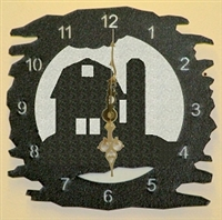 Rustic Metal Clock- Barn Design