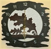 Rustic Metal Clock- Oak Leaf Design