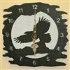 Rustic Metal Clock- Eagle Design
