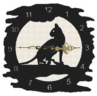 Rustic Metal Clock- House Cat Design