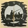 Rustic Metal Clock- Fisherman Design
