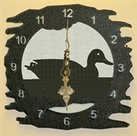 Rustic Metal Clock- Duck Design