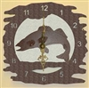 Rustic Metal Clock- Walleye Design