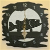 Rustic Metal Clock- Bass Design