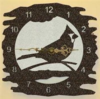 Rustic Metal Clock- Cardinal Design