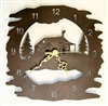 Rustic Metal Clock- Cabin Design