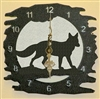 Rustic Metal Clock- Fox Design