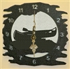 tRustic Metal Clock- Canoe Design