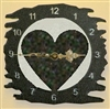 Rustic Metal Clock- Heart Design