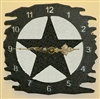 Rustic Metal Clock- Star Design