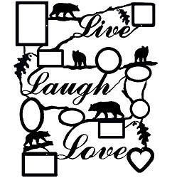 Rustic Live Laugh Love Collage Picture Frame- Bear Design