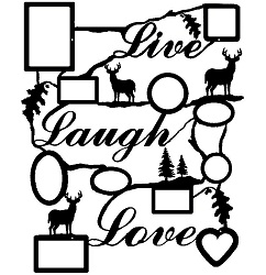 Rustic Live Laugh Love Collage Picture Frame- Deer Design