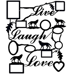 Rustic Live Laugh Love Collage Picture Frame- Wolf Design
