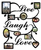 Live Laugh Love Collage Picture Frame