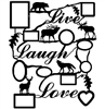 Rustic Live Laugh Love Collage Picture Frame- Scenery Design