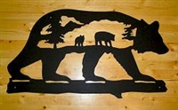 Silhouette Wall Art- Bear Design