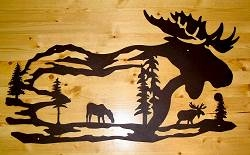 Silhouette Wall Art- Moose Design