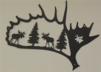 Silhouette Wall Art- Moose Antler Design