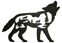 Silhouette Wall Art- Wolf Design