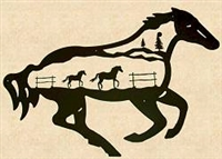 Silhouette Wall Art- Horse Design