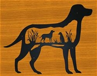 Silhouette Wall Art- Lab Retriever Design