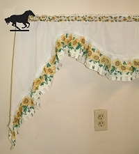 Curtain Rod Holder Pair- Galloping Horse Design