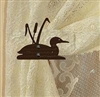 Swag Holder- Pair- Loon with Cattails Design