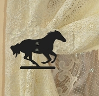 Swag Holder- Pair- Galloping Horse Design