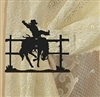 Swag Holder- Pair- Bucking Bronco Design