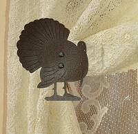 Swag Holder- Pair- Turkey Design