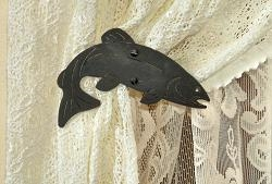 Swag Holder- Pair- Trout Design