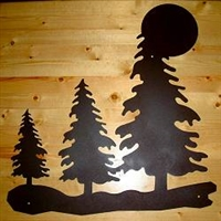Wall Art- Trees with Moon Design- Style 1