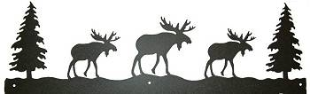 Rustic Scenery Style Wall Art - Moose Design