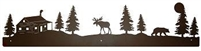 Rustic Scenery Style Wall Art- Moose, Bear, and Cabin Design