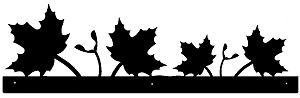Rustic Scenery Style Wall Art - Maple Leaf Design