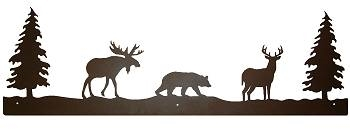 Rustic Scenery Style Wall Art - Moose, Bear, Deer Design