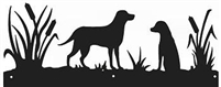Rustic Scenery Style Wall Art - Lab Retriever Design